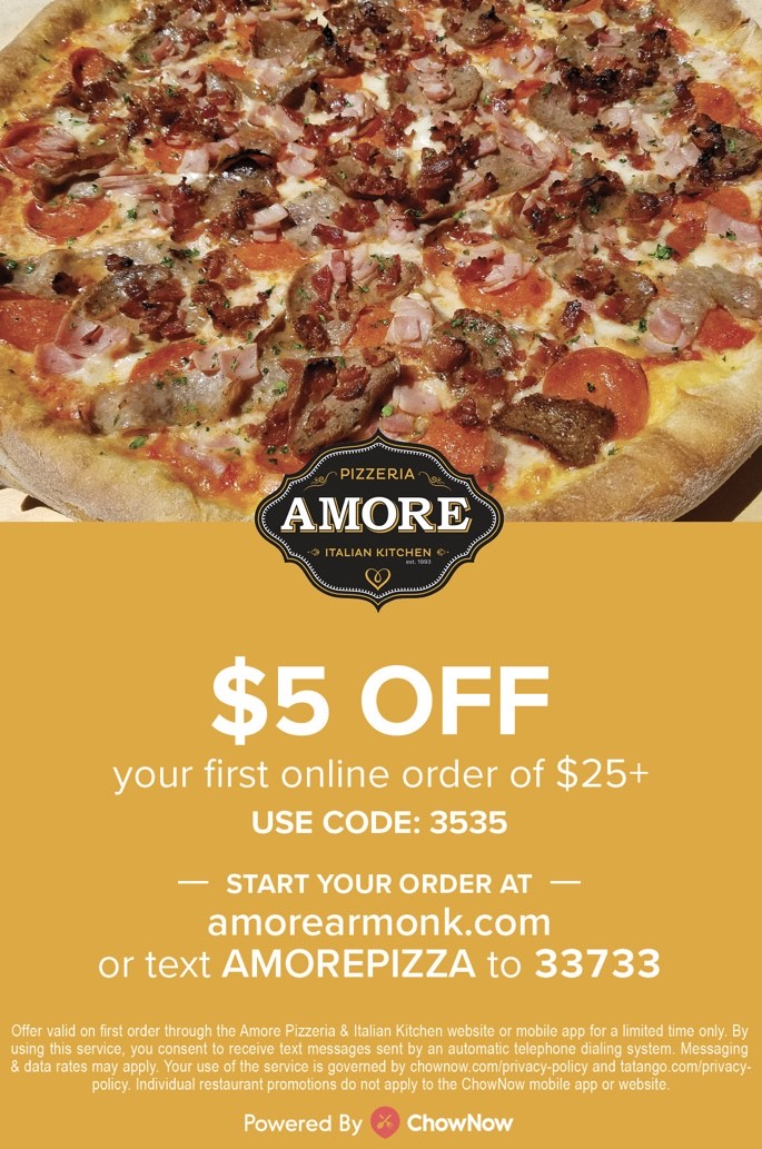 $5 off first online order of $25 or more, use code: 3535