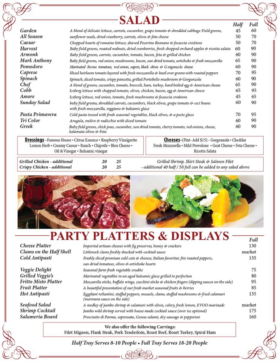 2021 Catering Menu - Salad